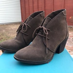 Blowfish dark brown lace up booties